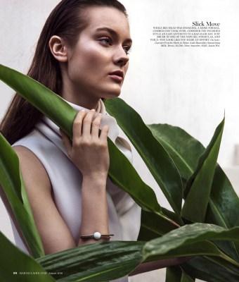Monika Jac Jagaciak for Marie Claire US by Enrique Badulesc