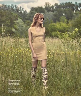 Karolina Wąż for Elle Hungary August 2016 lensed by Greg Swales