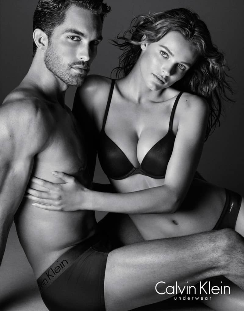 Edita Vilkeviciuteu boku Tobiasa Sorensena i w obiektywie Daniela Jacksona, Kampania reklamowa Calvin Klein Evergreen collection SS 2016