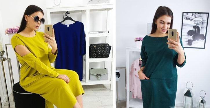 Jak modnie nosić duże rozmiary? Sukienki BeStyle.pl prezentuje Wiktoria Kula