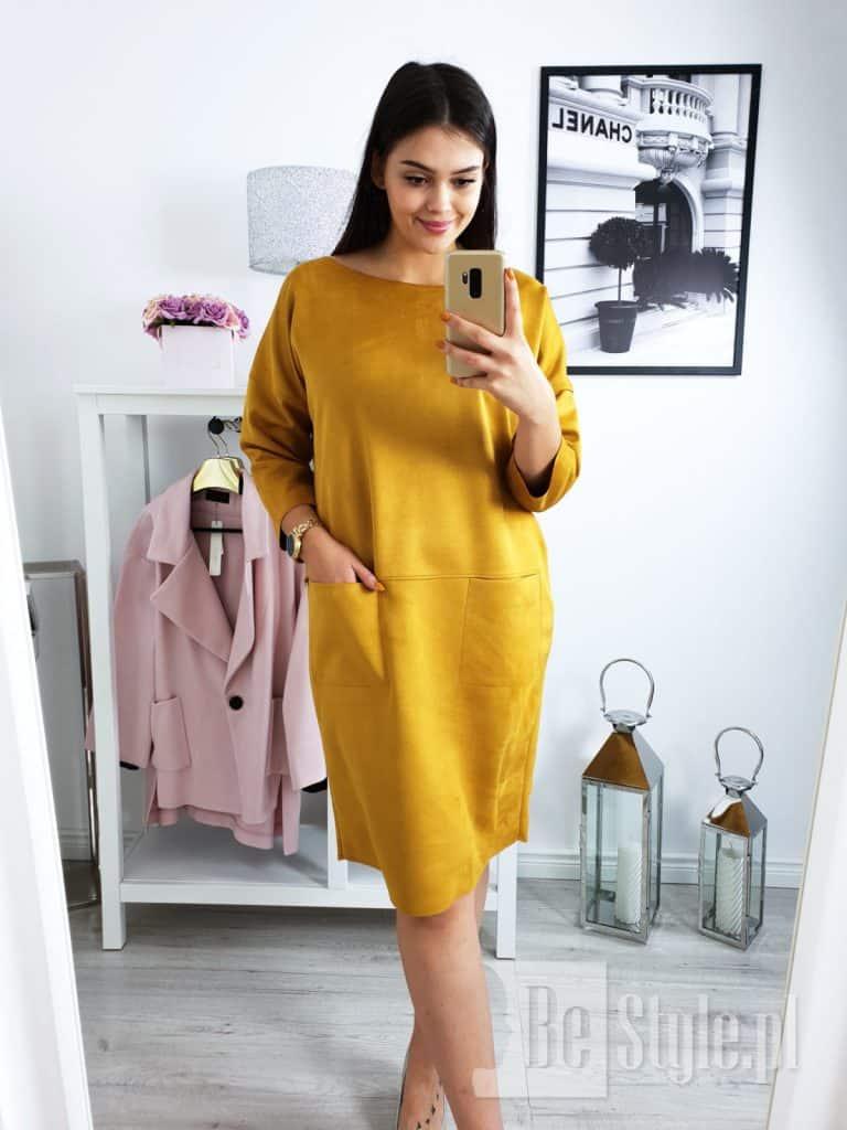 sukienka plus size w kolorze khaki